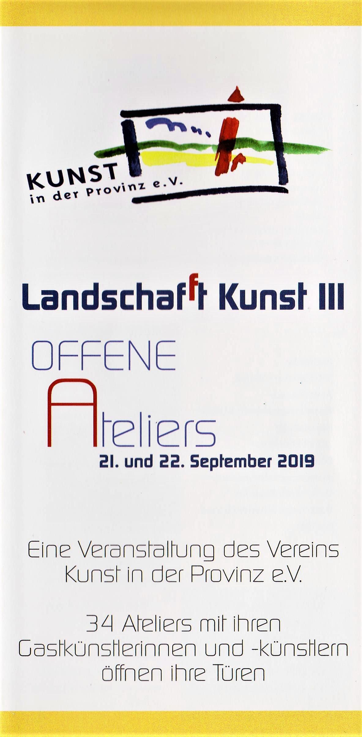 Offenes Atelier am 21.9.2019
